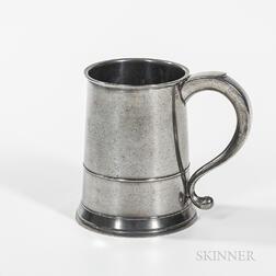 Joseph Danforth Pewter Quart Mug