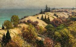 Joseph Tomanek (American, 1889-1974)      Dunes Along Lake Michigan