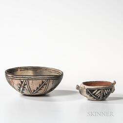 Two Cochiti Pottery Bowls