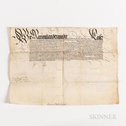 Maximilian II (1527-1576), Holy Roman Emperor Archduke of Austria, 1565 Document Signed.
