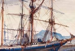 John Whorf (American, 1903-1959)      Sailing Ship