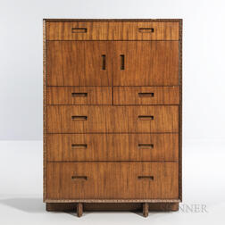 Frank Lloyd Wright for Henredon Taliesin Tall Chest of Drawers