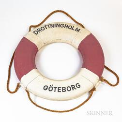 SS Drottningholm  Life Ring