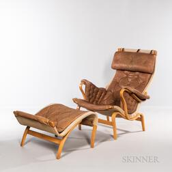 Bruno Mathsson (Swedish, 19074-1988) for Dux Pernilla Lounge Chair and Ottoman