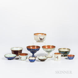 Eleven Wedgwood Lustre Items