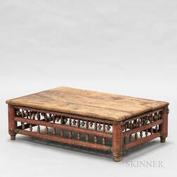 Asian Red-painted Low Table