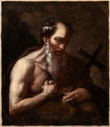 School of Jusepe de Ribera (Spanish, 1591-1652)      Penitent Saint Jerome