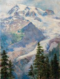 Marion Boyd Allen (American, 1862-1941)      Rocky Mountain Landscape