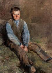 Attributed to Edward Emerson Simmons (American, 1852-1931)      Breton Boy