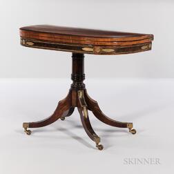 Regency Mahogany, Mahogany- and Kingwood-veneered, Ormolu-mounted Game Table