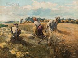 Eastern European School, 20th Century      Grain Harvesting