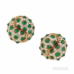 Picchiotti 18kt Gold, Emerald, and Diamond Earrings
