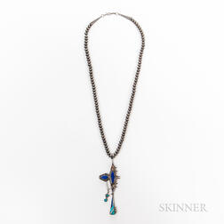 Carl & Irene Clark Silver and Turquoise Necklace