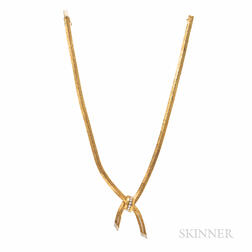18kt Gold and Diamond Lariat Necklace