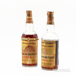 Old Schenley Straight Rye Whiskey 6 Years Old 1936, 2 4/5 quart bottles