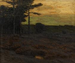Charles Warren Eaton (American, 1857-1937)      Pines at Dusk