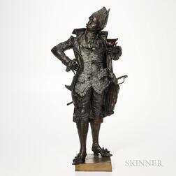 Antonio Pandiani (Italian, 1838-1928)       Bronze Figure of a Diplomat