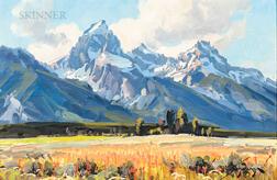 Conrad Schwiering (American, 1916-1986)      The Tetons