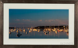 Six Framed Colored Photos of Massachusetts Views