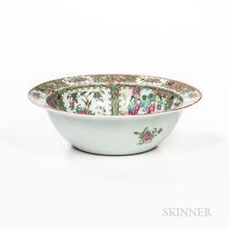 Large Rose Medallion Pattern Export Porcelain Center Bowl