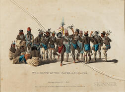 War Dance of the Sauks and Foxes   Lithograph