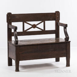 Miller Cabinet Company Hall Seat