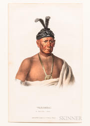 Three Lithograph Portraits of Native Americans.