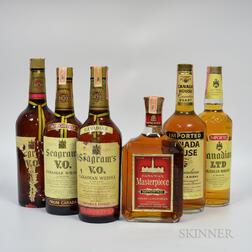 Mixed Canadian, 1 quart bottle 4 4/5 quart bottles 3 750 ml bottles