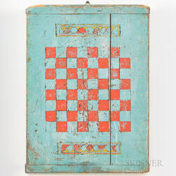 Blue- and Red-painted Checkerboard