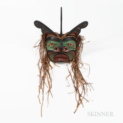 Contemporary Northwest Coast Sea Monster Mask