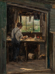 Charles Paul Gruppé (American, 1860-1940)      At the Workbench