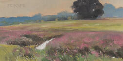 Robert Douglas Hunter (American, 1928-2014)      Norfolk Pasture with Loosestrife