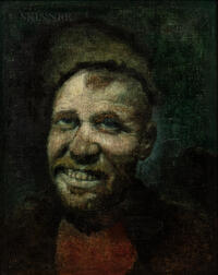 Attributed to Vasily Vasil'yevich Vereshchagin (Russian, 1842-1904)      Head of a Grinning Peasant