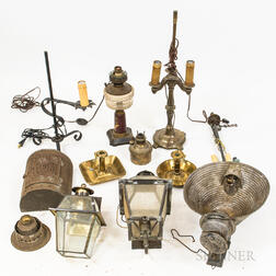 Large Group of Lighting Items