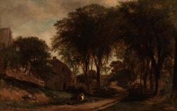Samuel Lancaster Gerry (American, 1813-1891)      Old Road at Medfield
