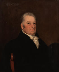 British School, 19th Century      Portrait of a Gray-haired Gentleman