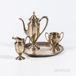 Four-piece J.E. Caldwell Sterling Silver Coffee Service