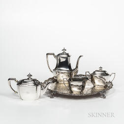 Four-piece Tiffany & Co. Sterling Silver Tea Service