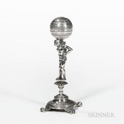 Continental Silver Figure of Atlas