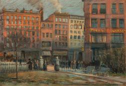 Arthur Clifton Goodwin (American, 1866-1929)      Corner of Charles and Boylston Street