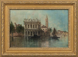 Italian School, 19th/20th Century      Venetian Palazzo on a Quiet Canal