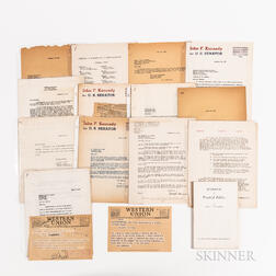Approximately Seventy Letters, Documents, Invoices, and Receipts Related to the Organization and Activities of John F. Kennedy's 1952