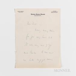 Kennedy, John F. (1917-1963) Autograph Letter Signed to Dick [Richard S. Kelley], September 1954.