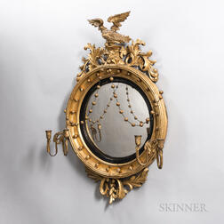 Neoclassical Giltwood Convex Mirror