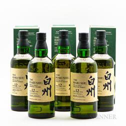 Hakushu 12 Years Old, 5 750ml bottles (3 x oc)