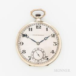 Bigelow, Kennard & Co. 18kt White Gold Open-face Watch