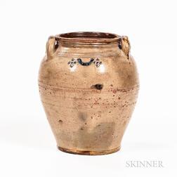 Boston Cobalt-decorated Stoneware Jug