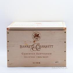 Barrett & Barrett Cabernet Sauvignon 2013, 6 bottles (owc)