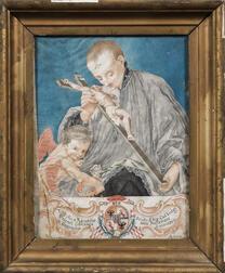 Italian School (Mantua), 18th Century      Homage to Luigi Valenti Gonzaga, Protector of the Capuchins of Mantua