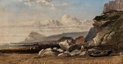 Arthur Joseph Meadows (British, 1843-1907)      View of the White Cliffs of Dover